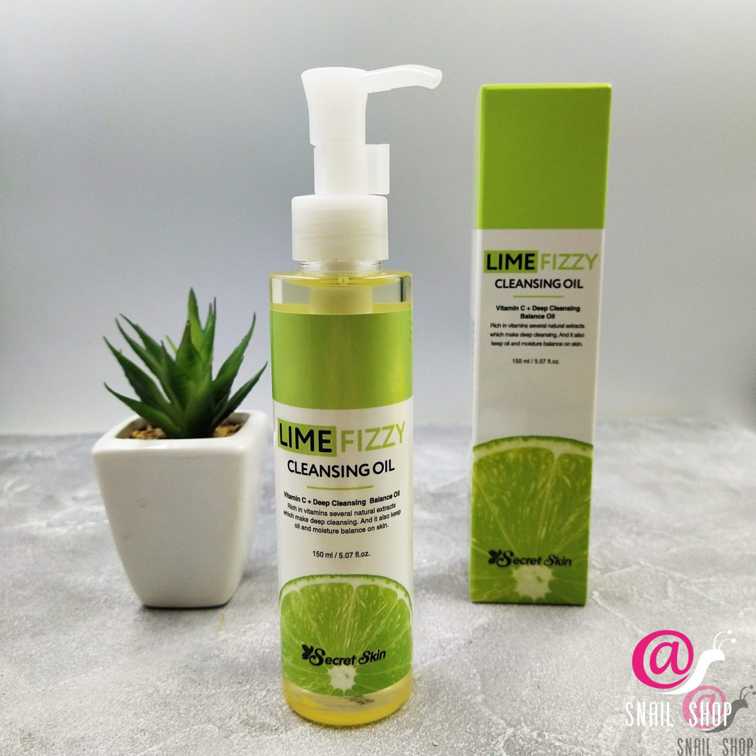 SS LIME FIZZY Гидрофильное масло SECRETSKIN LIME FIZZY CLEANSING OIL 150мл